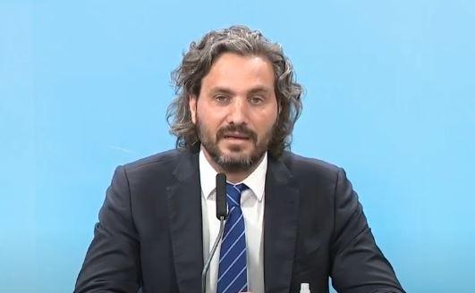Santiago Cafiero en la rueda de prensa 8/1/2021